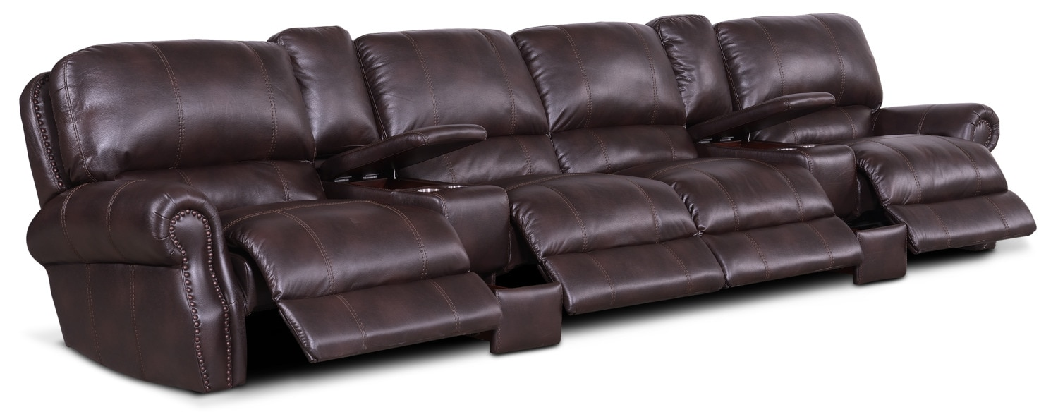Dartmouth 6 Piece Power Reclining Sectional With 4