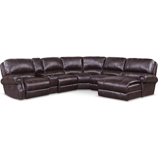 Dartmouth 6-Piece Power Reclining Sectional with 2 Reclining Seats and Chaise