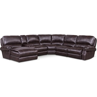 Dartmouth 6-Piece Power Reclining Sectional with 1 Reclining Seat and Chaise