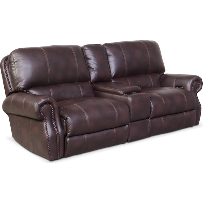 Living Room Furniture - Dartmouth 3-Piece Power Reclining Sofa with Console
