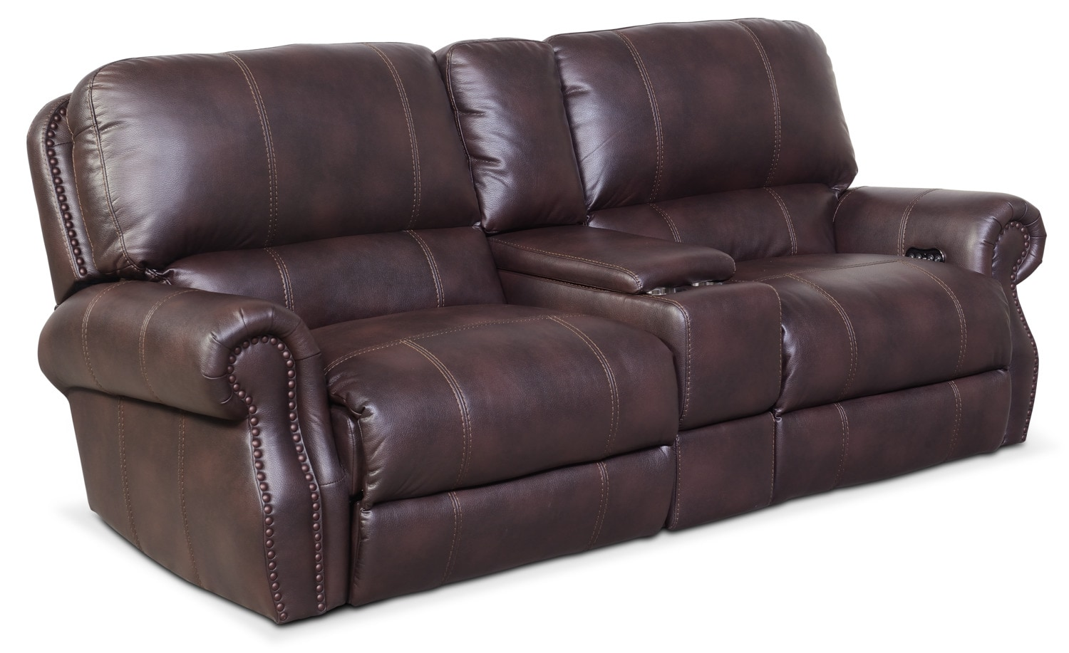 Merveilleux Dartmouth 3 Piece Power Reclining Sofa With Console   Burgundy