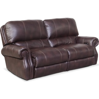 Dartmouth 2-Piece Power Reclining Sofa - Burgundy