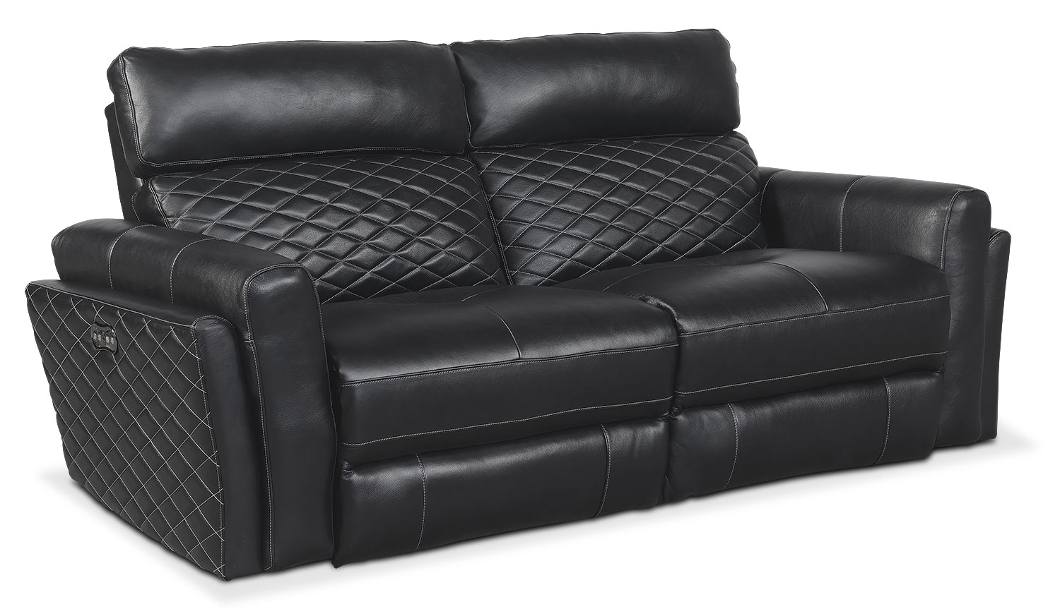 Catalina 2-Piece Power Reclining Sofa - Black