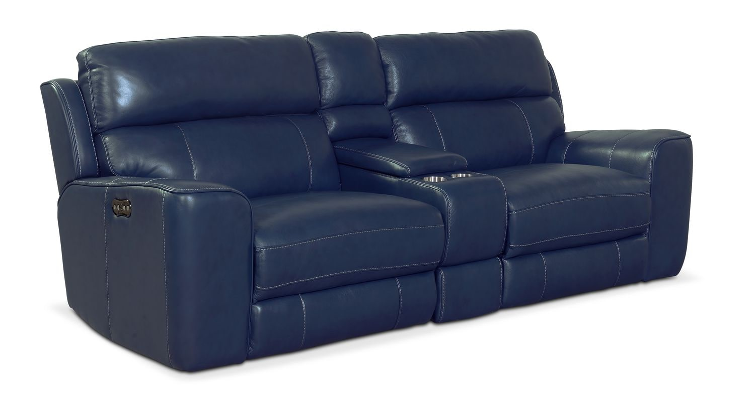 American Signnature Furniture Blue With Recliner