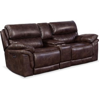 Monterey 3-Piece Power Reclining Sofa with Console - Chocolate