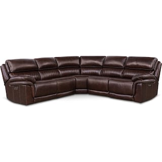 Monterey 5-Piece Power Reclining Sectional with 2 Recliners - Chocolate