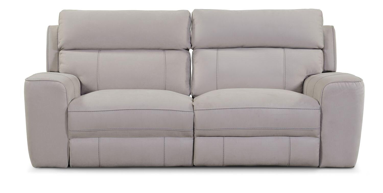 Newport 2 Piece Power Reclining Sofa Light Gray
