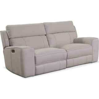 Newport 2-Piece Power Reclining Sofa - Light Gray