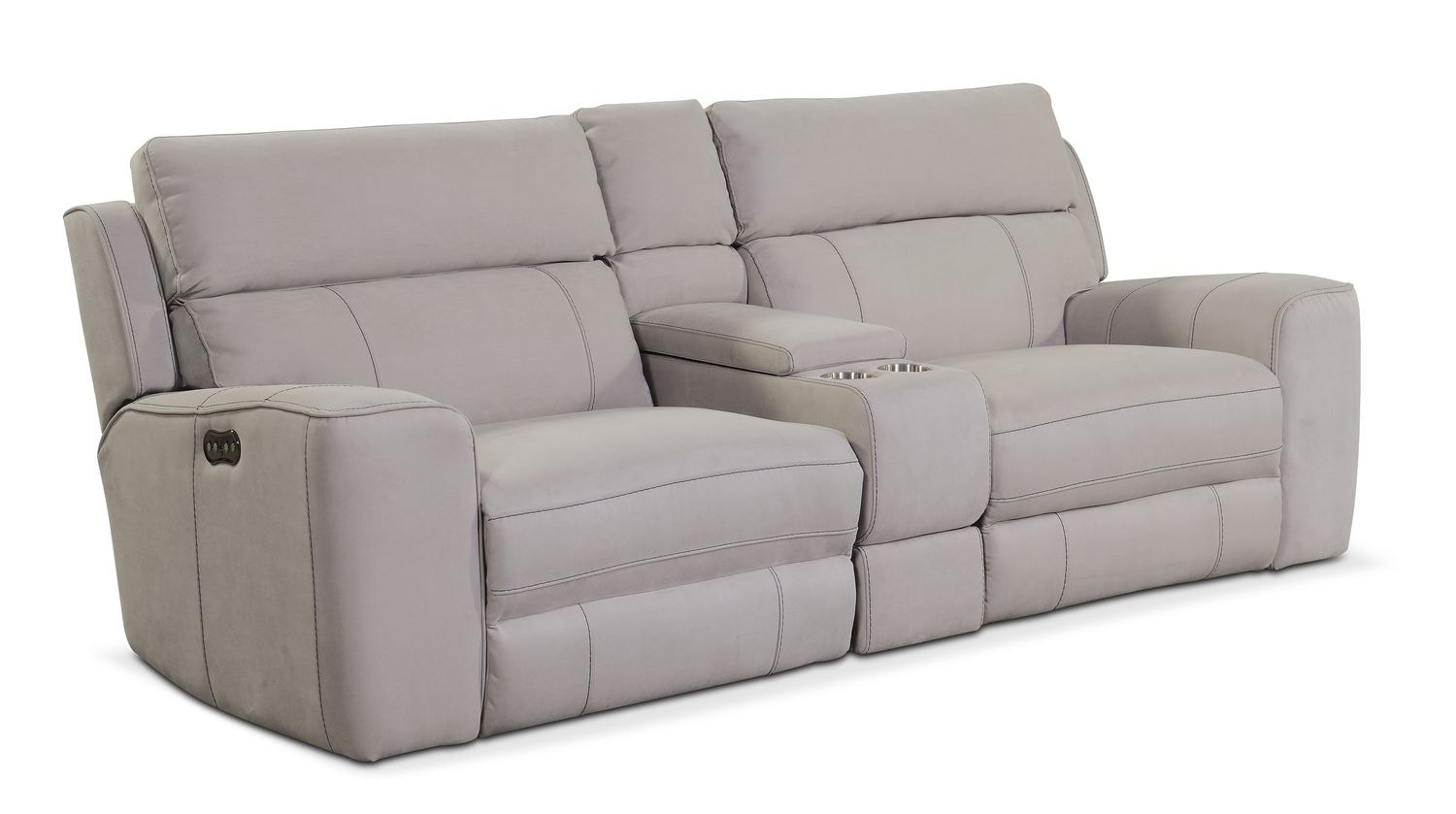 Newport 3 Piece Power Reclining Sofa With Console Light