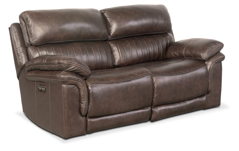 Living Room Furniture - Monterey 2-Piece Power Reclining Loveseat - Brown
