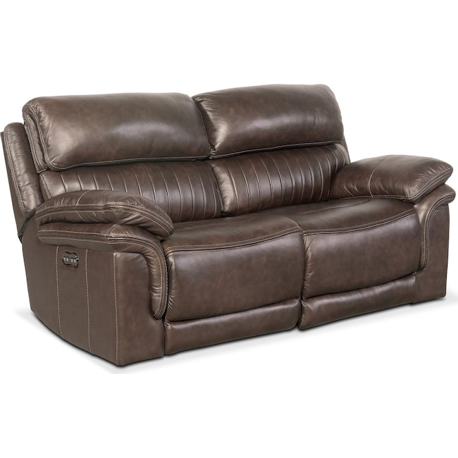 Living Room Furniture - Monterey 2-Piece Power Reclining Loveseat - Brown