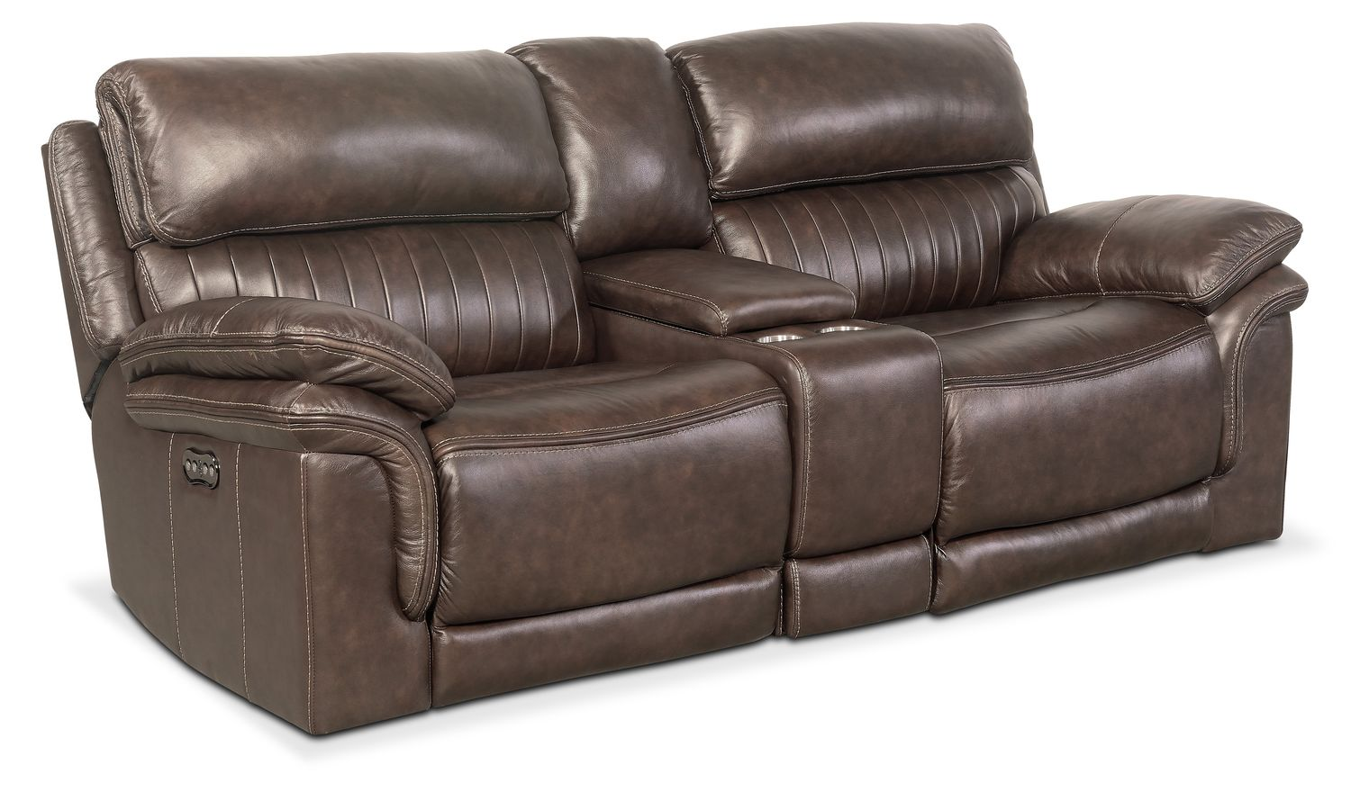 Living Room Furniture - Monterey 3-Piece Power Reclining Sofa with Console