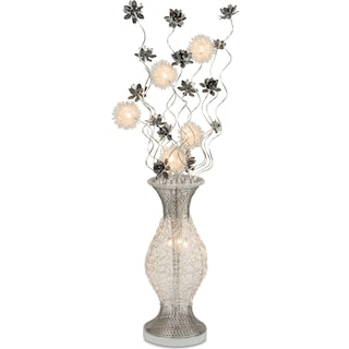 Lighted Flowers - Silver
