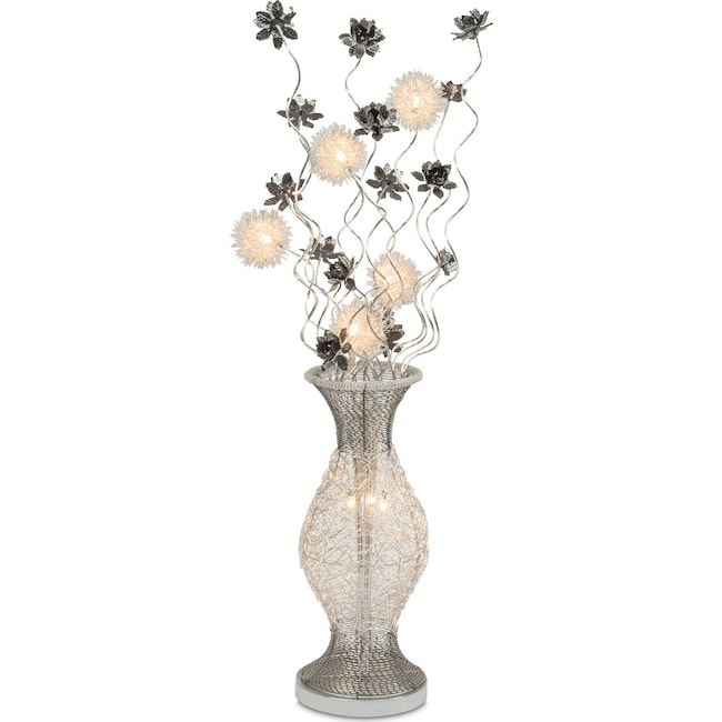 Home Accessories - Lighted Flowers - Silver
