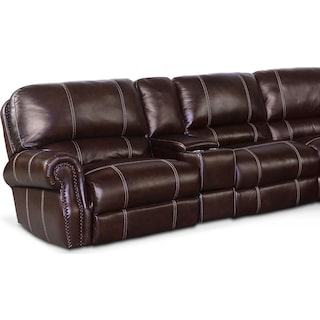 Dartmouth 6-Piece Dual-Power Reclining Sectional with 3 Reclining Seats
