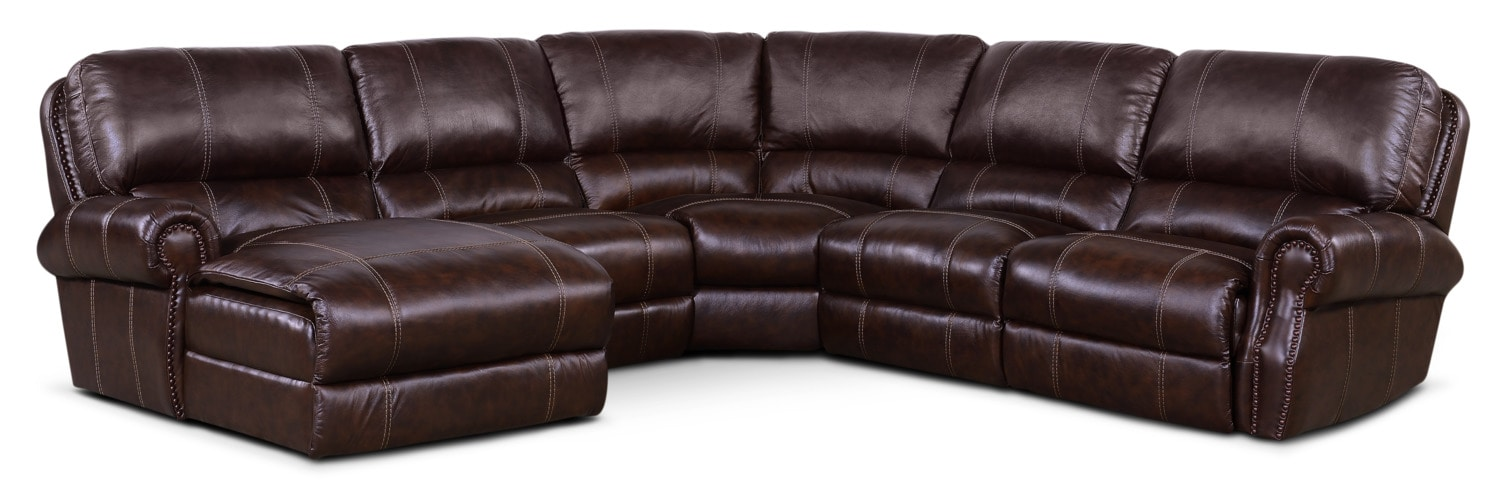 Dartmouth 5 Piece Power Reclining Sectional W Left Facing