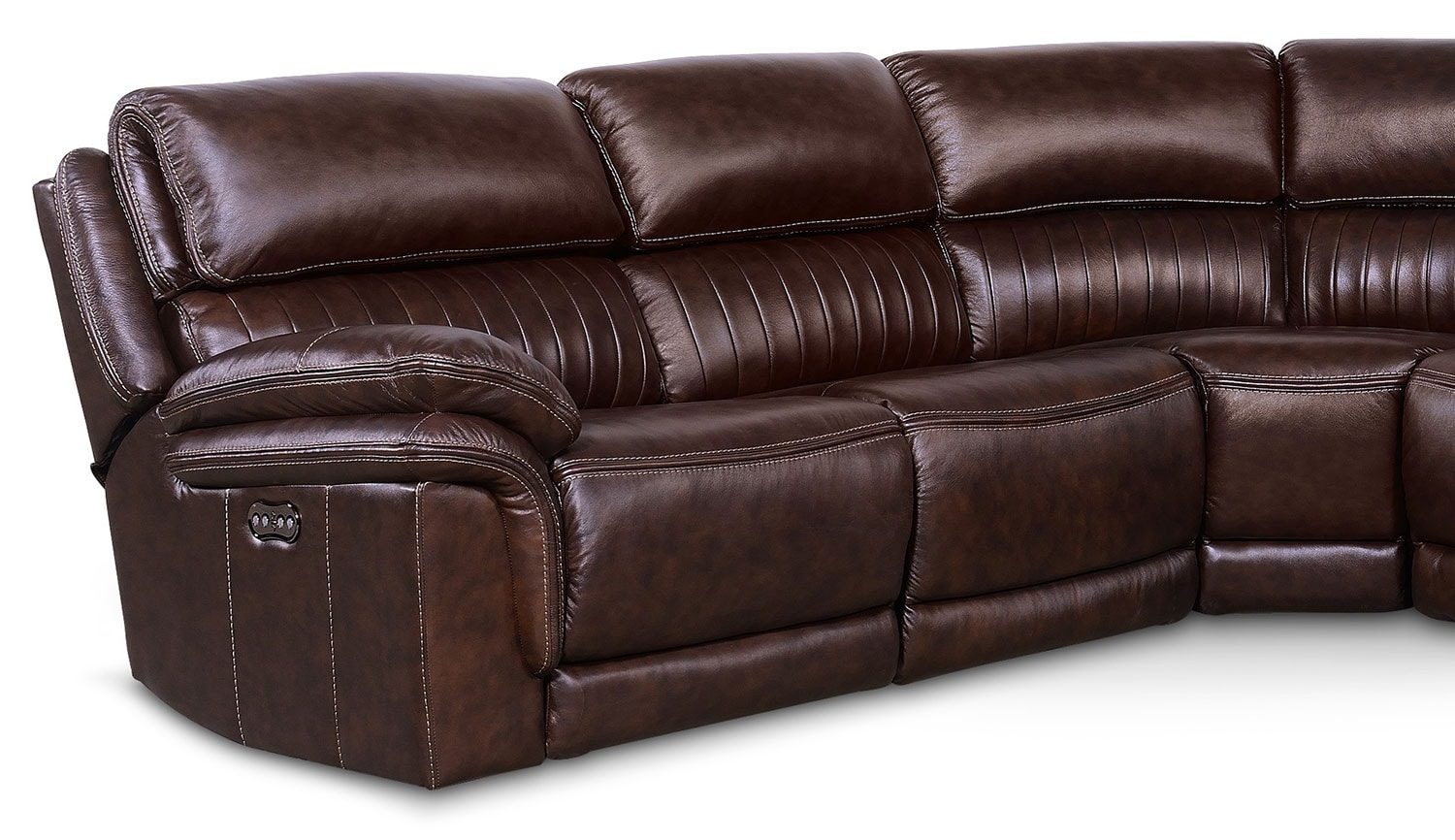 Monterey 5 Piece Power Reclining Sectional With 3 Reclining Seats