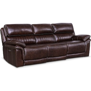 Monterey 3 Piece Reclining Sofa Chocolate