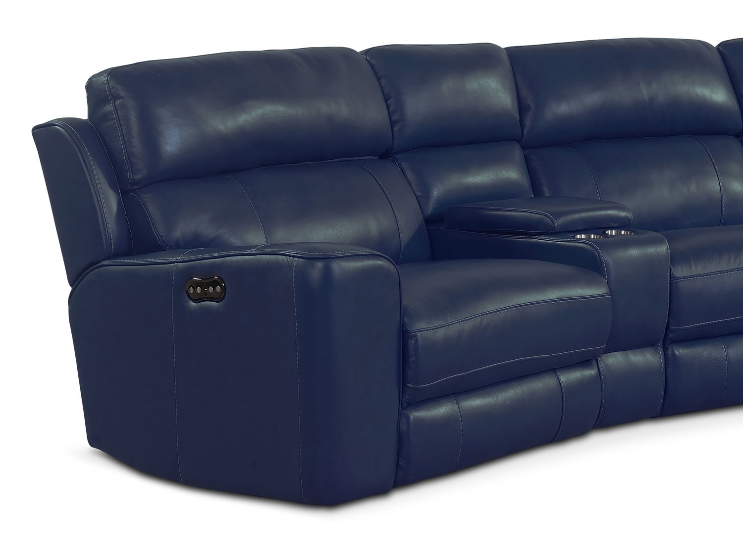 Newport 6 Piece Power Reclining Sectional With Wedge