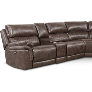 Monterey 6-Piece Power Reclining Sectional with 3 Reclining Seats