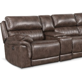 Monterey 6-Piece Power Reclining Sectional with 4 Reclining Seats
