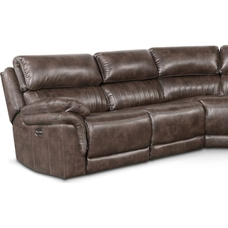 Monterey 5-Piece Power Reclining Sectional with 2 Reclining Seats