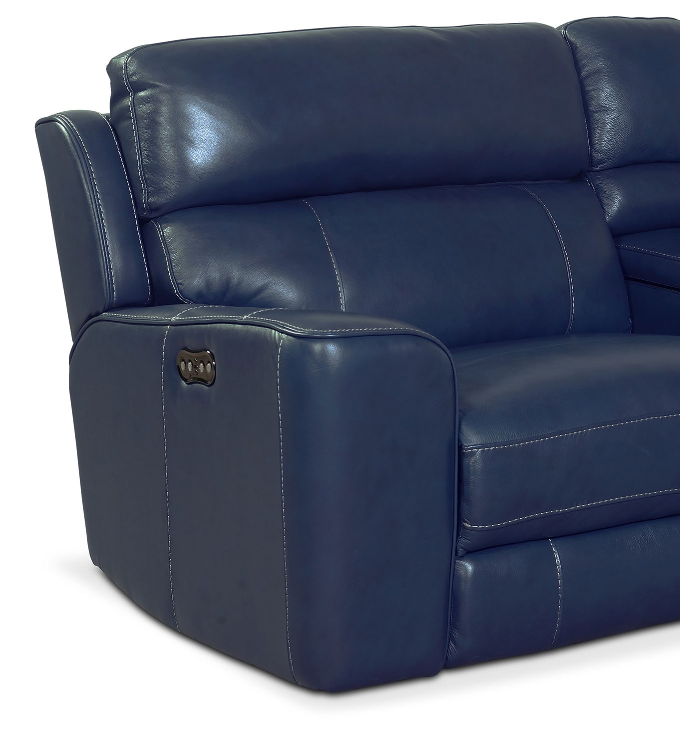 Blue reclining sofa pulsar dual reclining sofa and for Blue leather reclining sofa