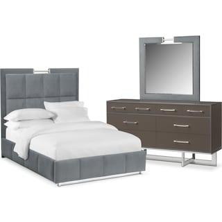 Sonata 5-Piece Queen Bedroom Set - Gray