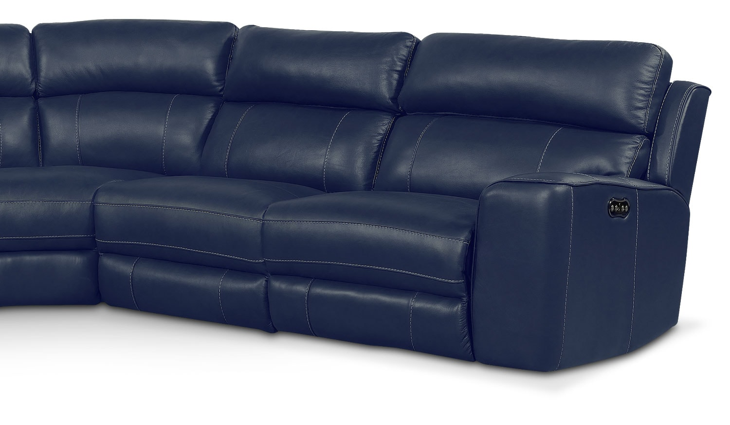 Newport 5 Piece Power Reclining Sectional With 2 Reclining