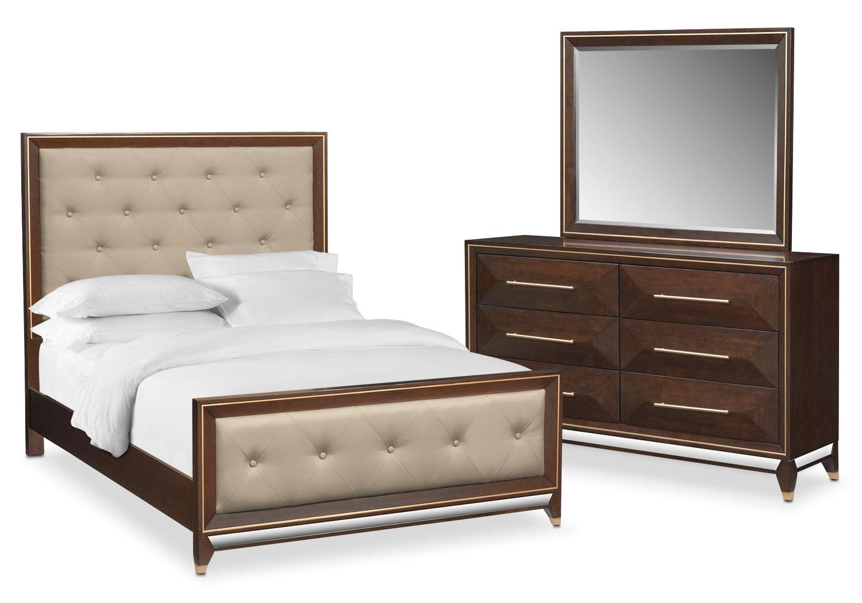 Kenton 5-Piece Queen Bedroom Set - Cherry
