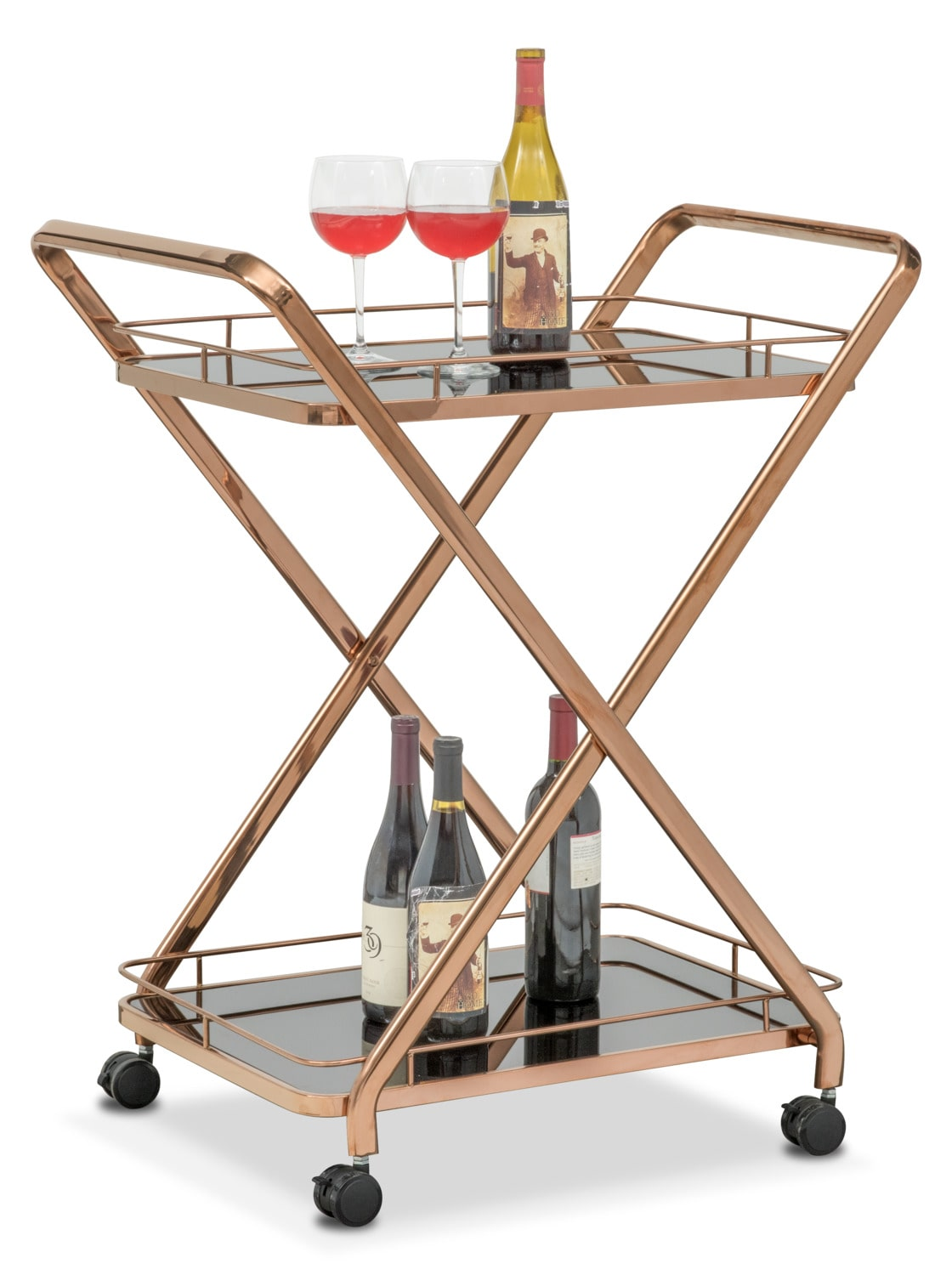 Venus Serving Cart - Rose Gold