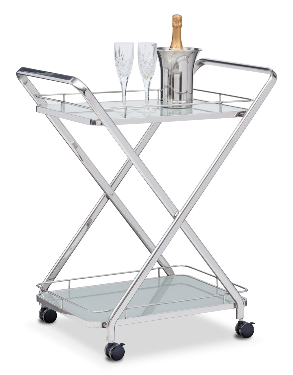Venus Serving Cart - Stainless Steel