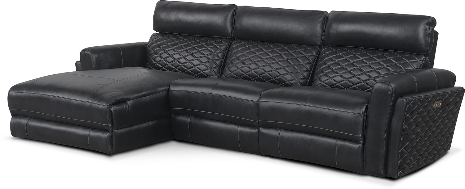 Living Room Furniture - Catalina 3-Piece Power Reclining Sectional with Left-Facing Chaise  sc 1 st  American Signature Furniture : american signature chaise - Sectionals, Sofas & Couches