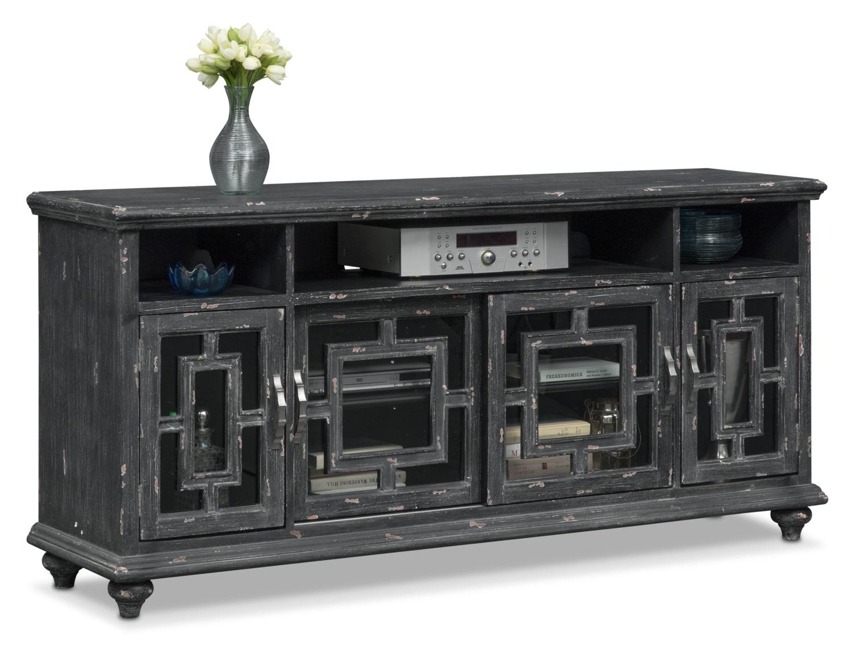 Regina Media Credenza Black American Signature Furniture