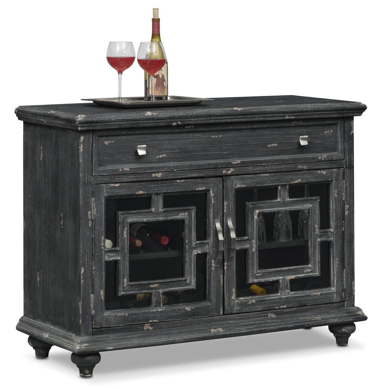 Accent and Occasional Furniture - Regina Wine Cabinet - Black