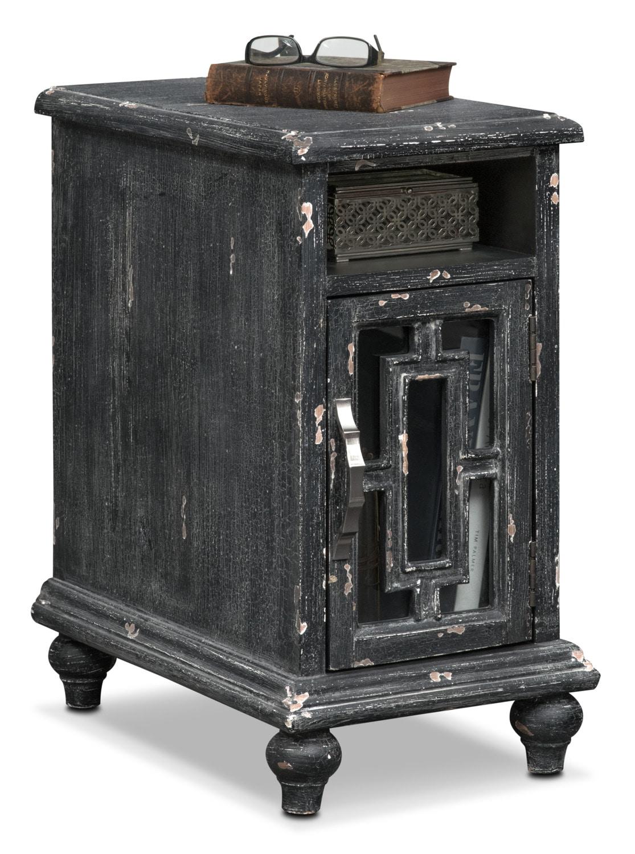 Regina Chairside Table - Black