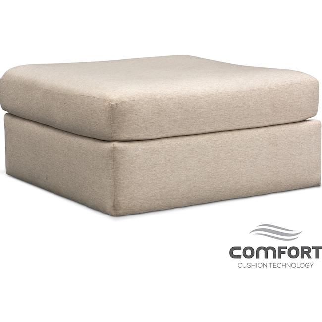 Living Room Furniture - Trenton Comfort Ottoman - Linen