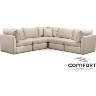 Trenton Comfort 5-Piece Sectional - Linen
