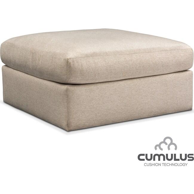 Living Room Furniture - Trenton Cumulus Ottoman - Linen
