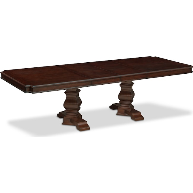 Dining Room Furniture - Vienna Rectangular Dining Table - Merlot