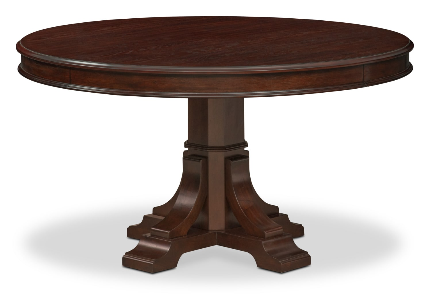 Vienna round dining table merlot american signature for Furniture dining table