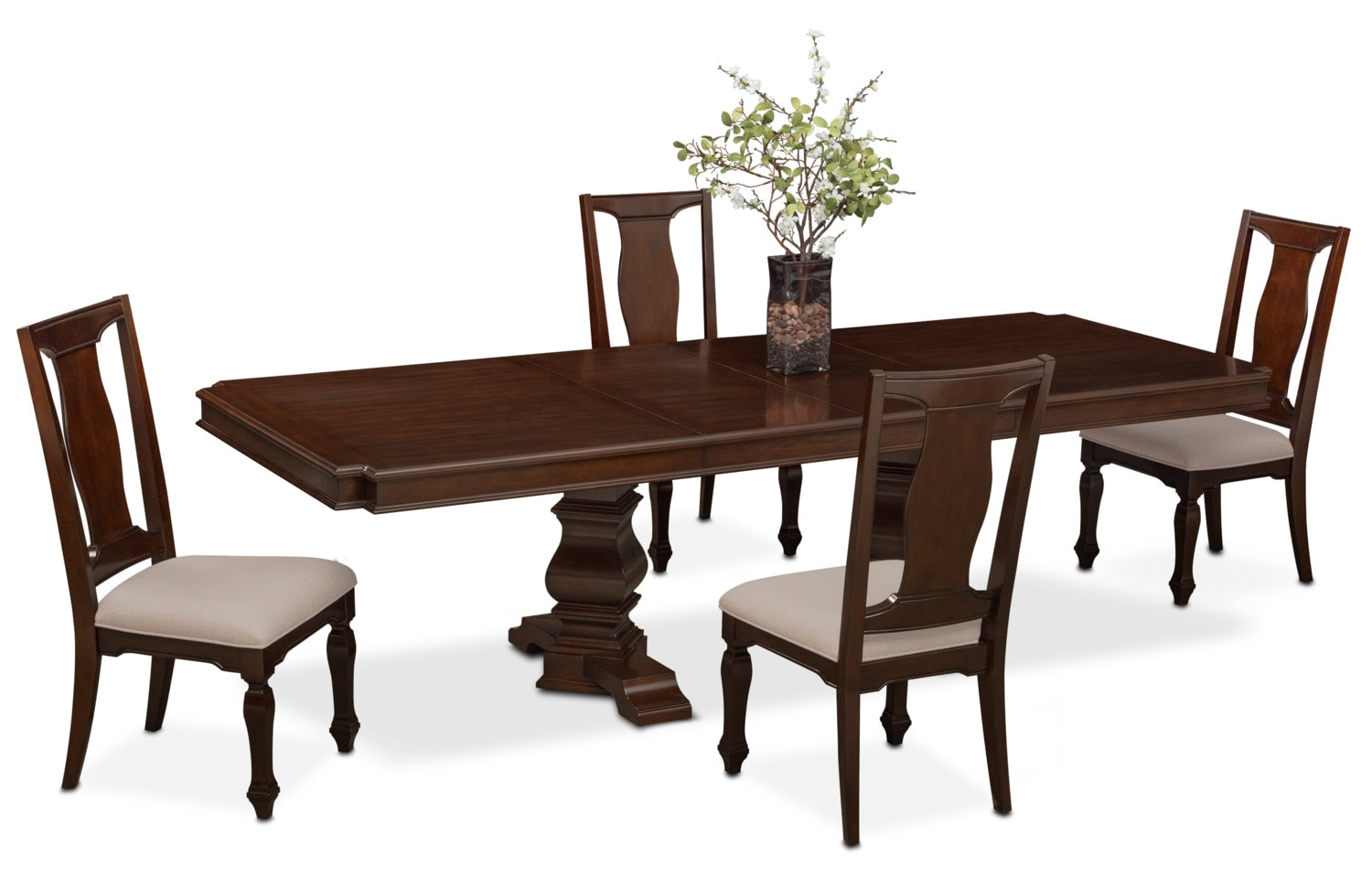 Dining Room Furniture - Vienna Rectangular Dining Table and 4 Dining Chairs