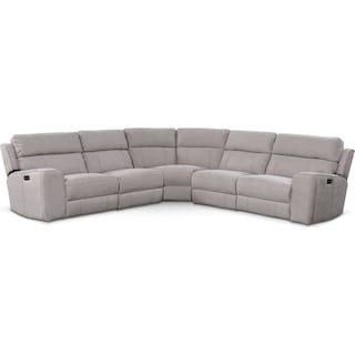 Newport 5-Piece Dual-Power Reclining Sectional with 3 Reclining Seats