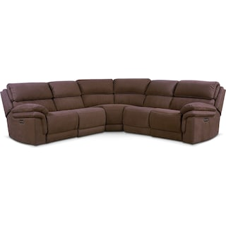 Monterey 5-Piece Power Reclining Sectional with 2 Recliners - Mocha