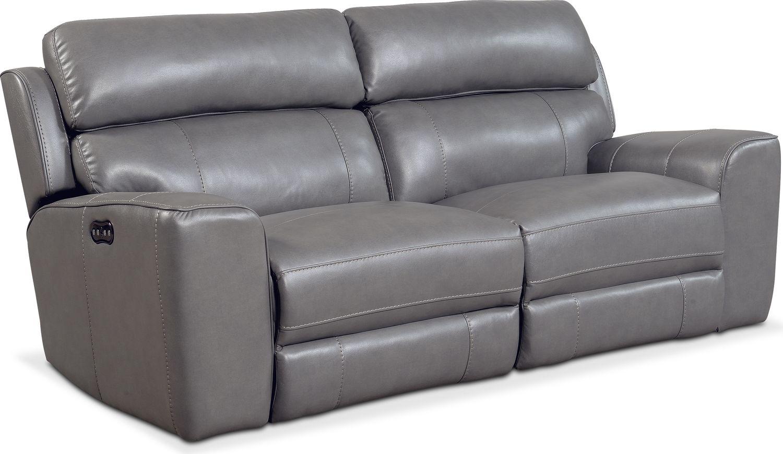 Newport 2-Piece Power Reclining Sofa - Gray