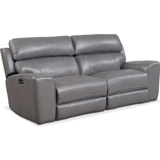 Newport 2-Piece Power Reclining Sofa - Gray
