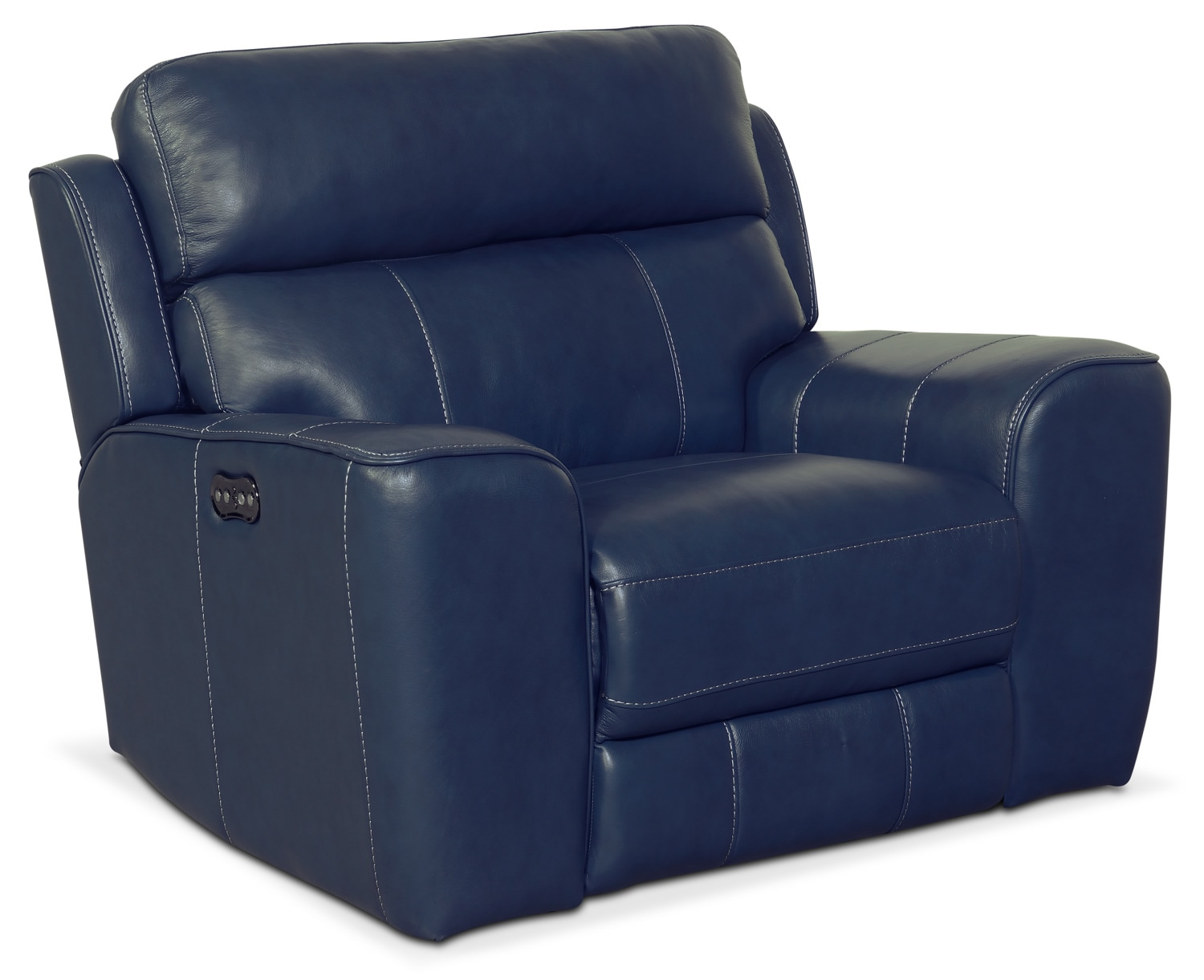 newport power recliner blue american signature furniture