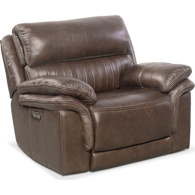 Living Room Furniture - Monterey Power Recliner - Brown