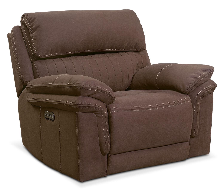 Living Room Furniture - Monterey Power Recliner - Mocha