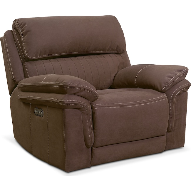 Living Room Furniture - Monterey Power Recliner - Mocha